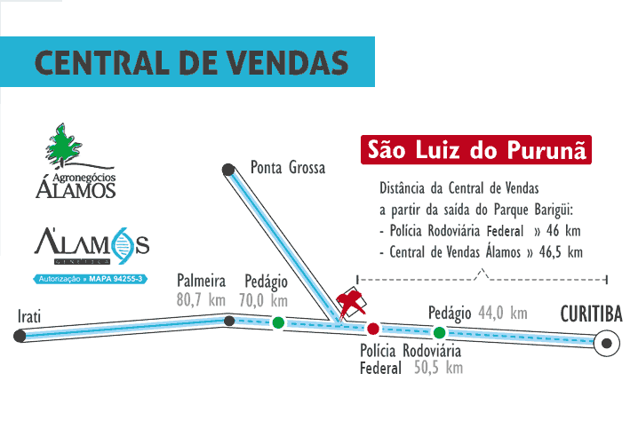 PMapa Simplificado Álamos Central de Vendas